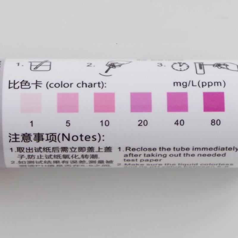 Papier d'essai pour l'essai de Nitrite de l'huile de coupe papier d'essai de Nitrite de Sodium bande d'essai de No2 pour la détection de l'aliment de nid de Bird'S - 2