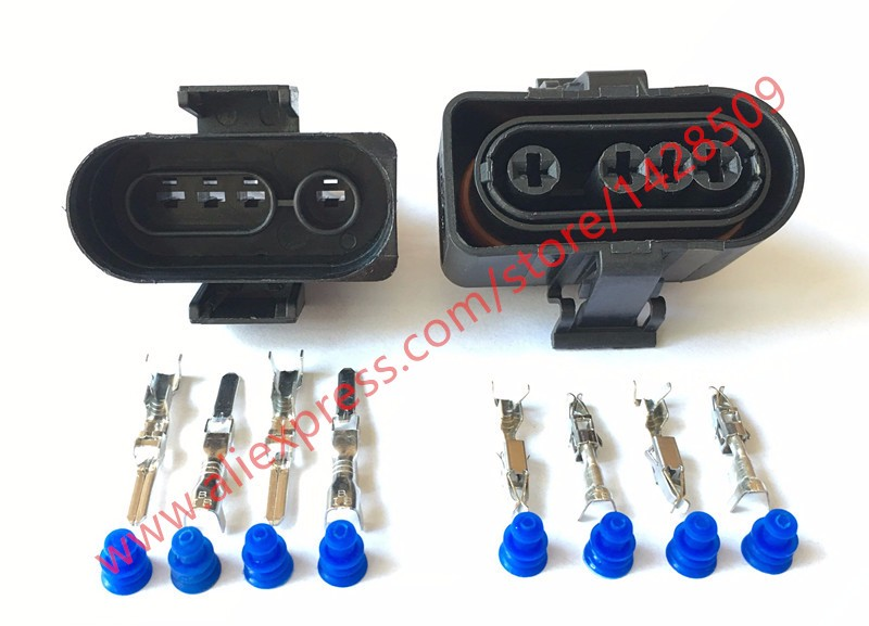 20 Sets 4 pin Waterproof Female Male Electrical Wiring Connectors Sealed Car Housing Plugs O2 Oxygen