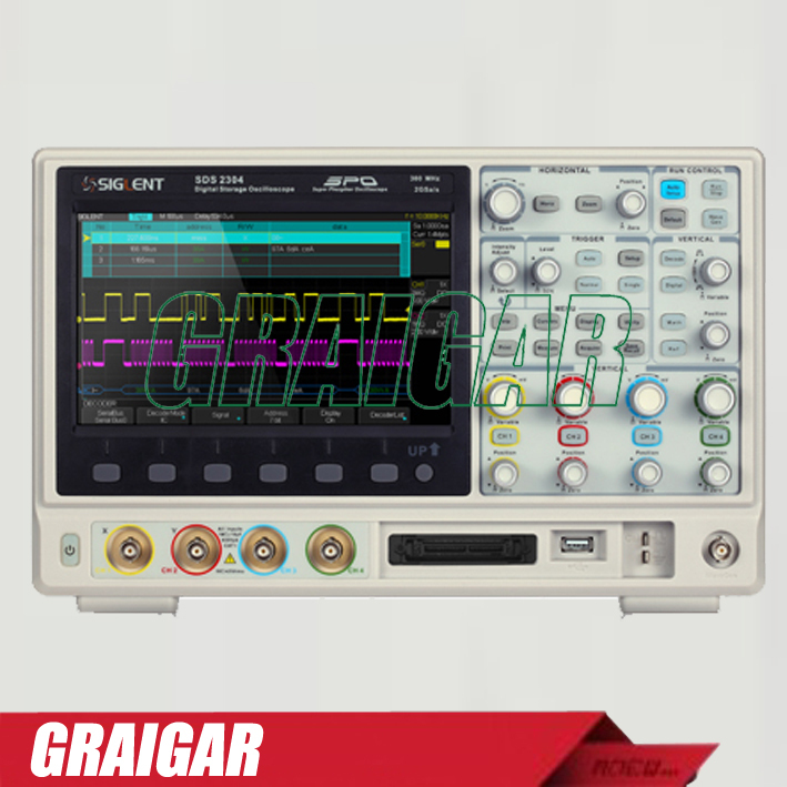 SIGLENT 8inch TFT-LCD 100MHz 4 Channels super phosphor digital Oscilloscope USB SDS2104 with 28M Memory depth осциллограф siglent 8 tft lcd 70 2 sds2072 28