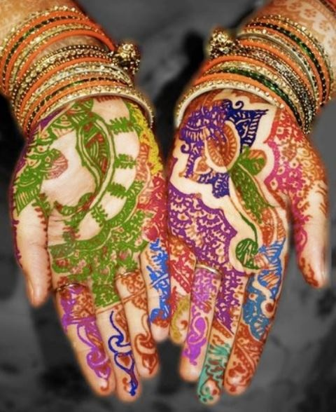6 multi color Herbal Henna tubeTattoo kit kroppskonst Henna MEHANDI - Tatuering och kroppskonst - Foto 3