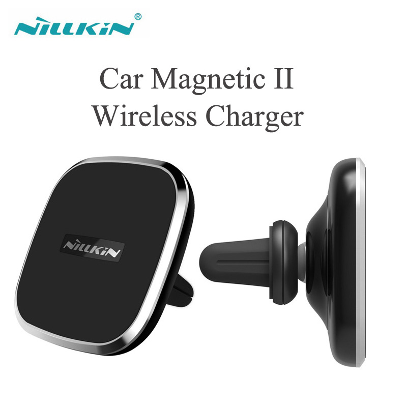 Nillkin Universal 360 Rotating Magnetic Car Acessories Qi Wireness Car Charger Mobile Phone Holder Stand Air Vent Mount