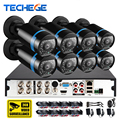 HD 1080P HDMI 8ch CCTV System sony imx322 sensor CCTV Camera 2400tvl 2.0MP AHD-H Weatherproof  AHD Camera Home Security System