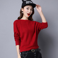 A Mink Cashmere Dress Shirt Color Long Sleeved Sweater Hollow Winter Sweet Female Bat