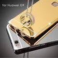 Чехол для Huawei P9 Lite/G9 Металлический Алюминий + Покрытие зеркало Задняя Крышка Аксессуары Гибридный Полный Роскоши защитный Футляр для Huawei G9