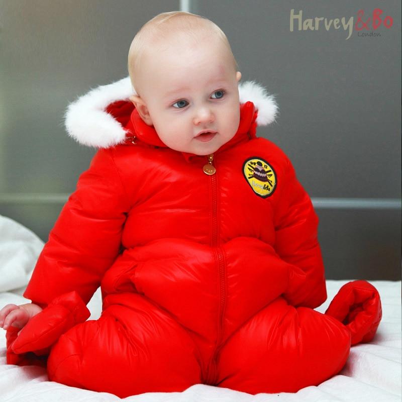 Baba kisgyermek egy darabja lefelé kabátot csecsemő hótalp fiúk - Bébi ruházat