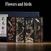 Calligrpahy Ink-Sticks Inks Chinese-Paint Flowers Birds Mo Laohukaiwen Hui Black-Color