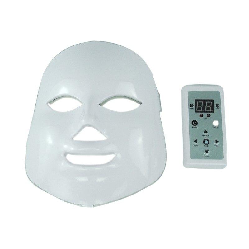 Светодиодный маска для лица морщин угорь лица Красота Spa Фотон Свет Уход за кожей омоложение инструмент 7 цветов T7