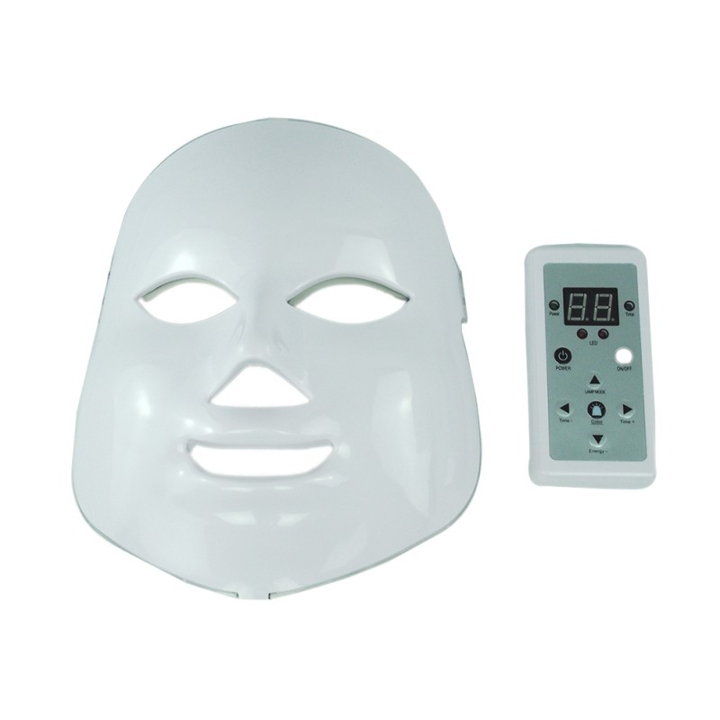 LED Masque Facial Rides Acné Retrait Visage Beauté Spa Thérapie Photon Lumière Soins de La Peau Rajeunissement Instrument 7 Couleurs P7