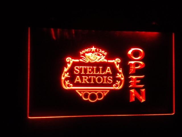 B38 Stella Artois Beer Open Bar Led Neon Light Sign In Plaques