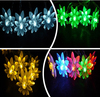 5m 50 Bulbs Battery LED Lotus Flora Strings Luminaria Decoration Lighting Lamps Christmas Holiday Indoor Home