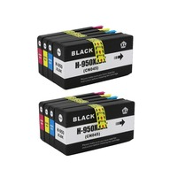 Yi Le Cai 2Set 950XL 951xl Ink Cartridges For HP950 XL 951 For HP Deskjet 8600