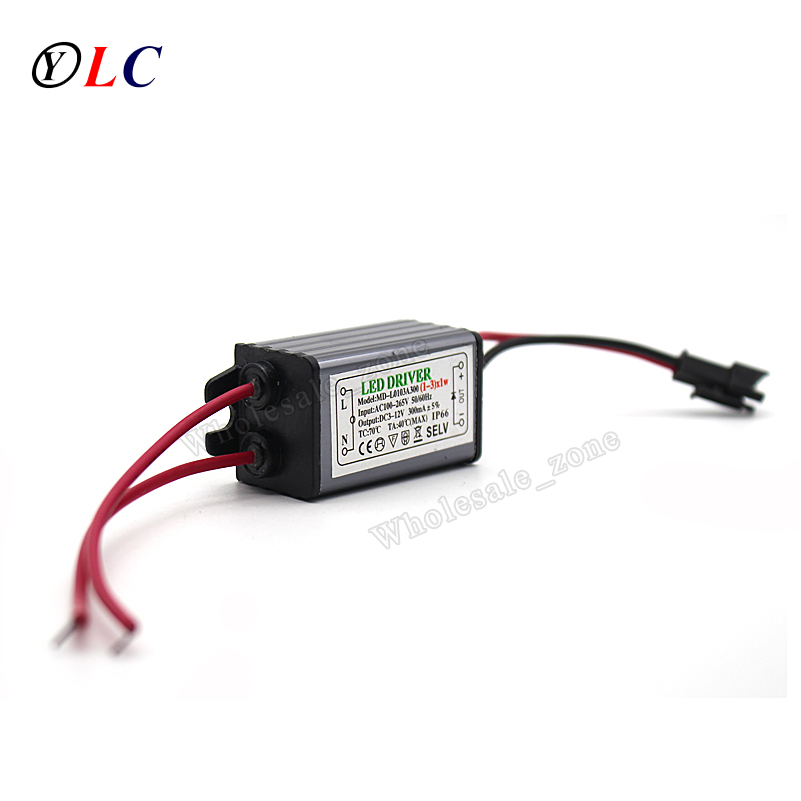 ( 1-3 ) X 1W 3W IP66 Waterproof LED Driver Power Supply Constant Current AC100 - 265V to DC 6V -12V 240mA -300mA for LED new100w 10 series 10 parallel waterproof integrated led bulb driver power supply constant current ac 100 265v to dc 26 36v