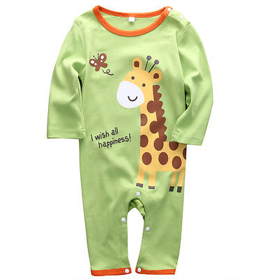 Toddler Newborn Baby Boy Girl Cartoon Animal Elephant   Romper   Cute Autumn Clothes Outfit