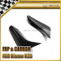 Car-styling For Nissan R35 GTR Carbon Fiber Front Bumper Canard Fit OEM Front Bumper Only