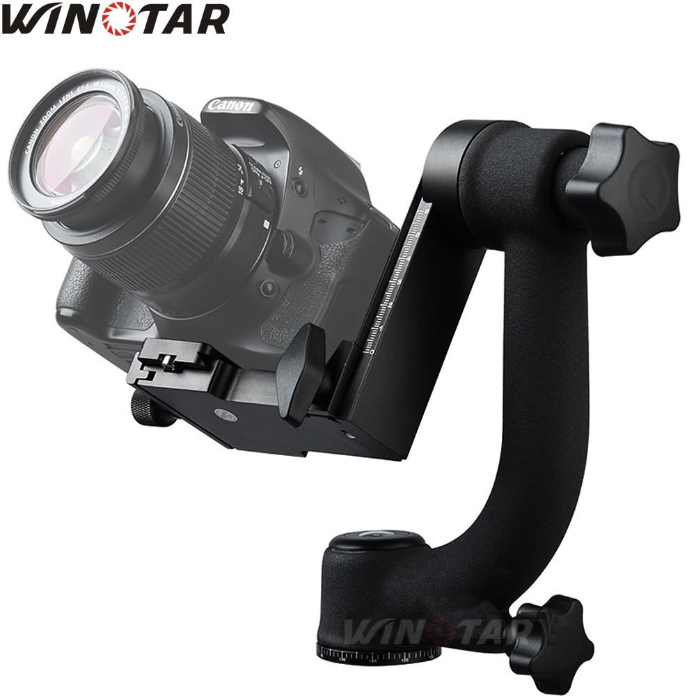 WINOTAR Pro 360 Degree Vertical Panorama Gimbal Tripod Head 1/4Screw With Quick Release For Camera Telephoto Lens Vs Beik Bk-45
