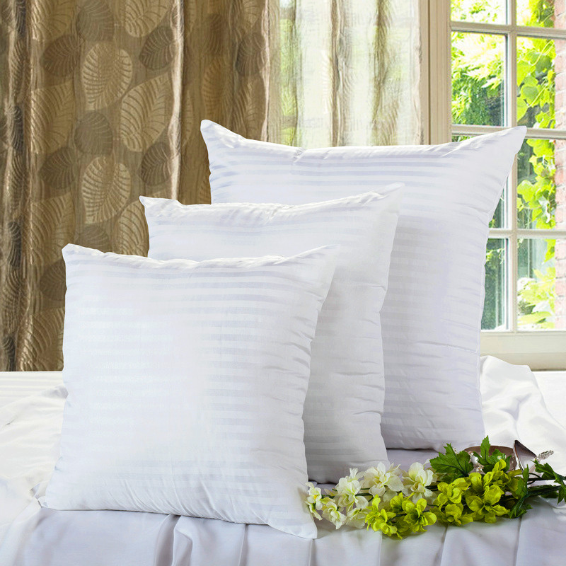 SunnyRain 2-Pieces White Polyester/Cotton Square <font><b>Pillow</b></font> For Decorative <font><b>Pillow</b></font> Cushion Insert 45x45cm 60x60cm
