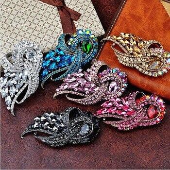 3.8 Inch Large Austria Crystals Elegant Wedding Bridal Bouquet Brooch Women Gift Brooch Pins
