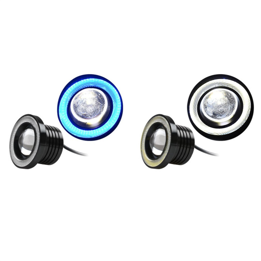 LED COB Angel Eyes Daytime Running Light A Pair/Set 64mm/76mm/89mm 30W Car Vehicle Universal Fog Lights for BMW for Benz цена