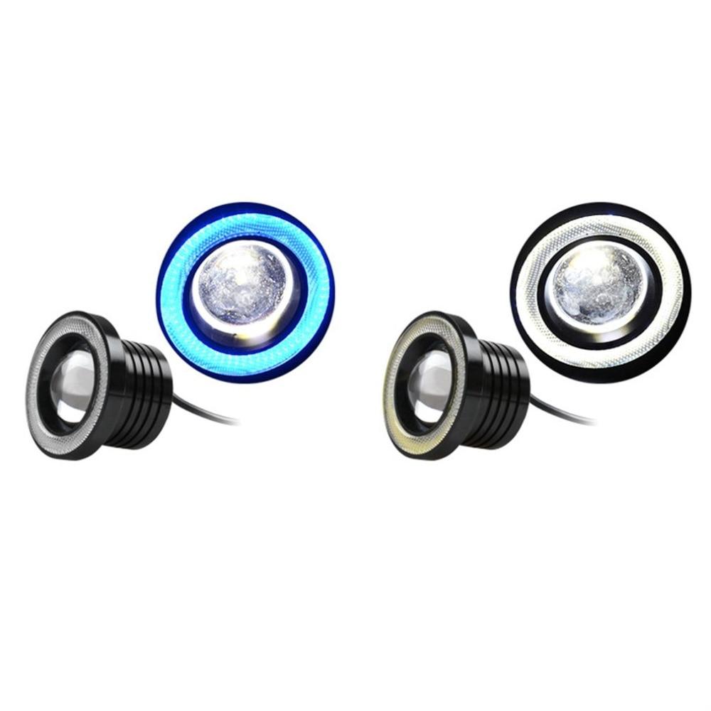 LED COB Angel Eyes Daytime Running Light A Pair/Set 64mm/76mm/89mm 30W Car Vehicle Universal Fog Lights for BMW for Benz