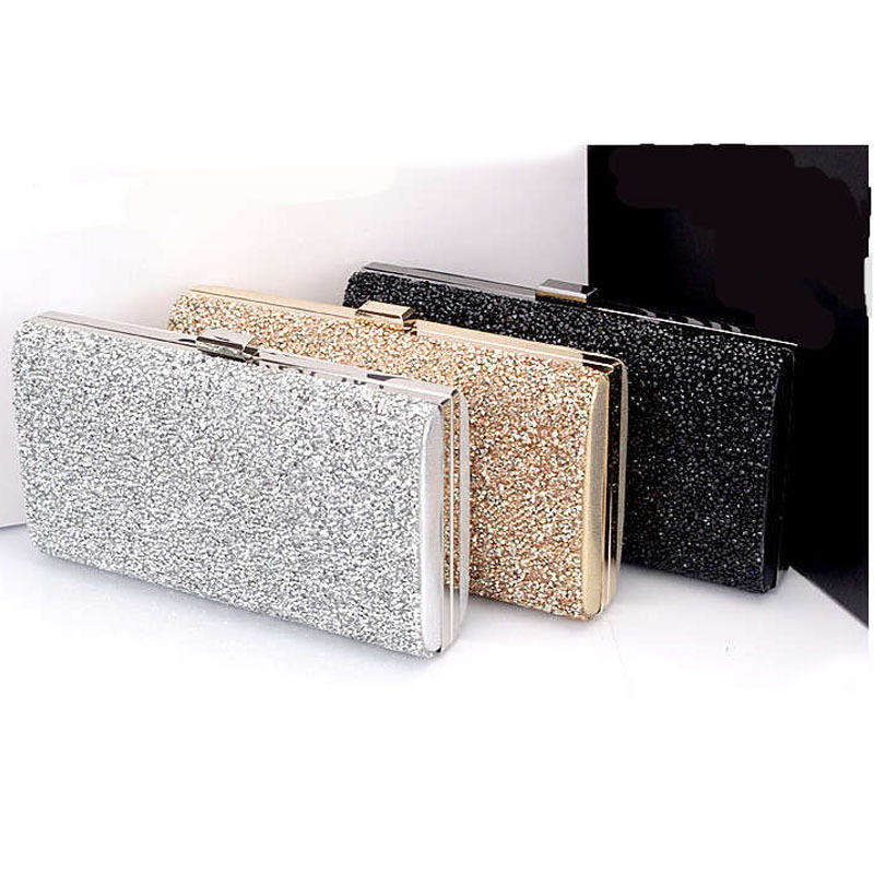 Woman Evening Bag Women Diamond Rhinestone Clutch Crystal Day Wallet Wedding Purse Party Banquet Black Gold Silver
