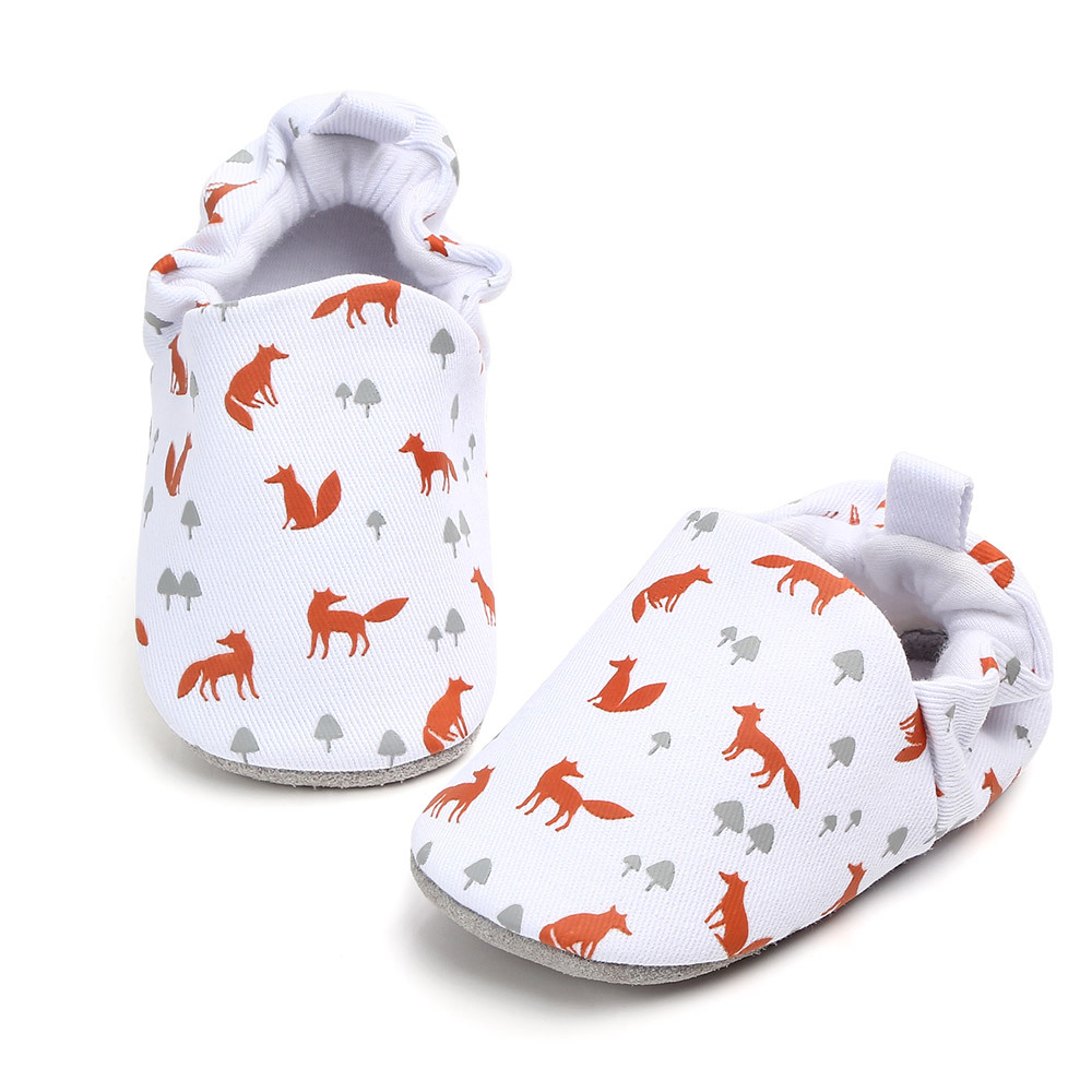 XINI MOMMY Genuine Leather Sole Baby Shoes A Toddler Cartoon Printing Proof Off Shoes Children's Shoes Baby Walking Shoes XA 188