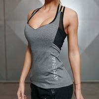 Women Gyms Stringer Singlet Sporting Sexy Tank Tops Women Fashion Y Back Clothes Fitness Bodybuilding Clothes Tops