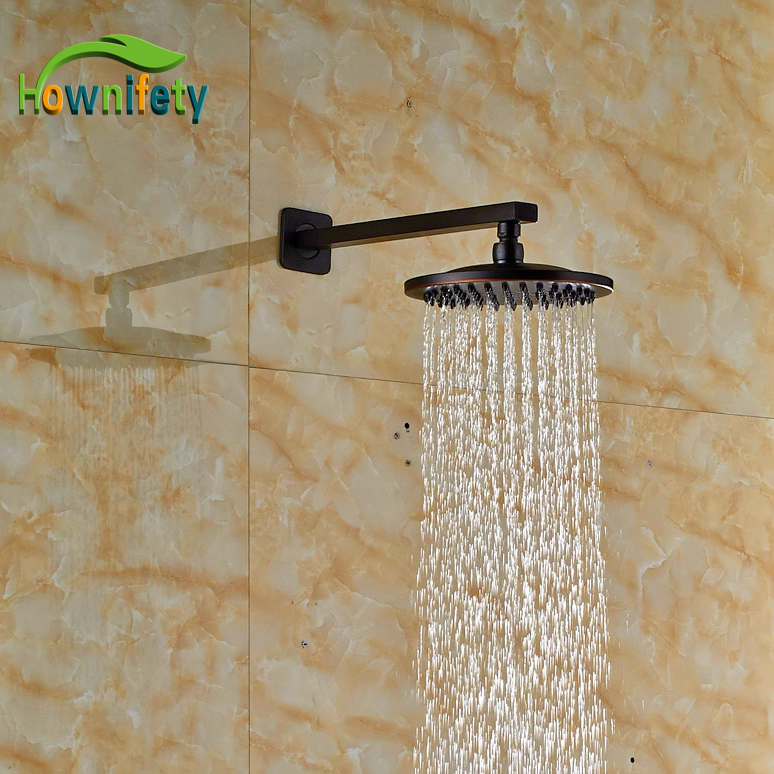 Wall Mounted Oil Rubbed Broze Finish Shower Head Brass Bathroom Replacement Sprayer With Shower Arm newly design oil rubbed broze tooth brush holder 2 ceramic cups wall mounted