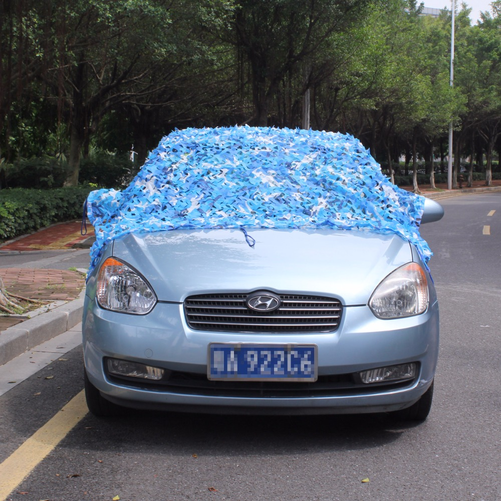 VILEAD 2M*7M Blue Filet Camouflage Netting Camo Netting For Car Covers Beach Sunshade Pergolas Netting Roof Netting Gazebo