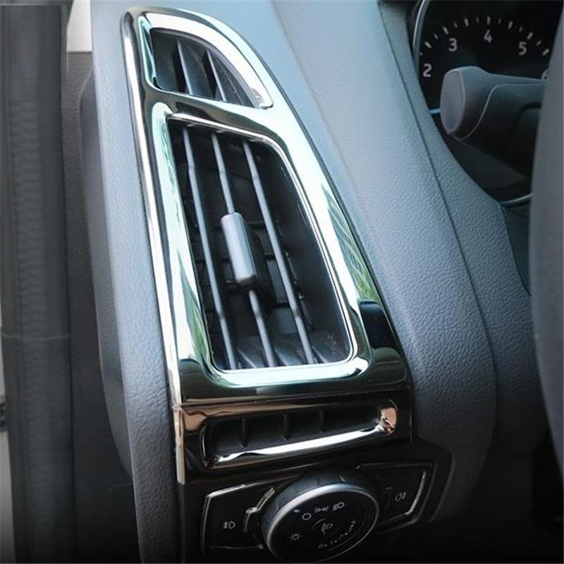 Aire acondicionado interior promover cromo modificado piezas cubiertas car styling sticker molduras tira 15 16 17 para Ford Focus