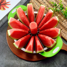 Stainless Steel Watermelon Slicer Cutter Tongs Windmill Shape Plastic Fruit Water Melon Knife  Tools