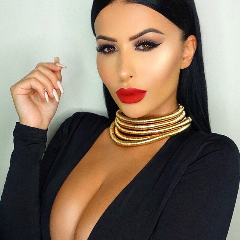 JURAN Νέο ίδιο σχέδιο Kim Kardashian κολάρο Choker κολιέ για τις γυναίκες Δήλωση Κοσμήματα Maxi Κολιέ Boho Αξεσουάρ G2208a