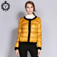 COUTUDI 2018 Solid Color Ultra Thin Red Down Jacket Winter Womens Down Jackets Brands Puffer Duck