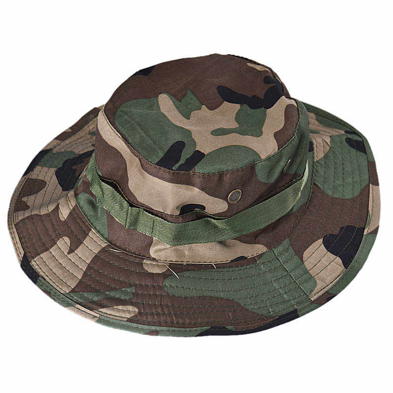 قبعة بحافة قبعة الشمس بنما رفرف قبعة تنفس Boonie متعددة حدبة النيبالية Boonie التمويه القبعات في الهواء الطلق قبعة عسكرية سمبريرو # YJP
