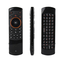 Rii i25A Russian Layout 2.4Ghz Wireless Air Fly Mouse Keyboard with IR Remote Learning and Earphone Jack