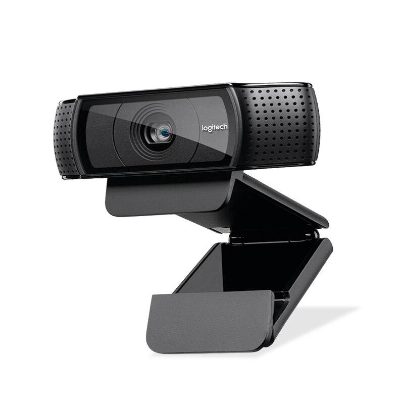 Logitech Webcam HD Pro C920e pantalla panorámica de Video y grabación de 1080 p Cámara ordenador portátil o de escritorio Webcam C920 versión de actualización