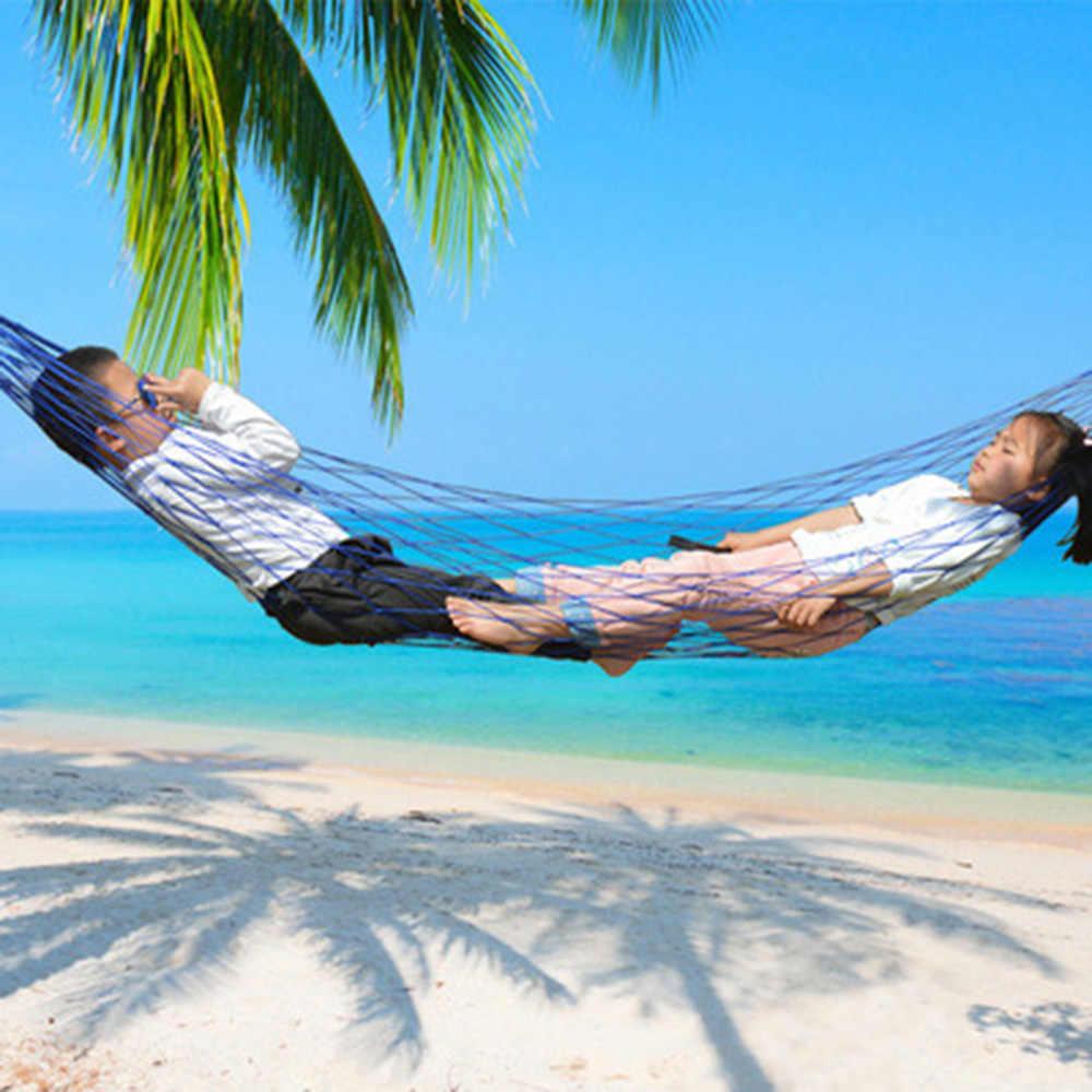 Нейлоновая уличная сетка-гамак подвесная кровать качели портативный гамак для кемпинга с крючками для сада пляжа двора путешествия спорта