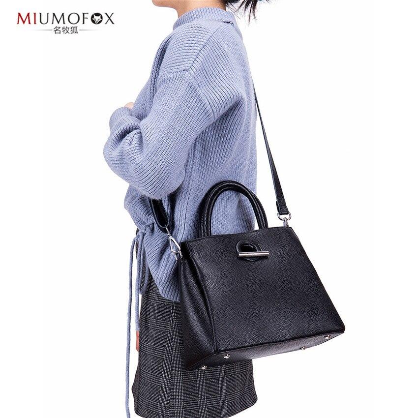 2019 nuevo diseño de cuero genuino moda mujer bolsos de mano largo sólido versátil Messenge bandolera para mujer cuatro estilos W340 - 3