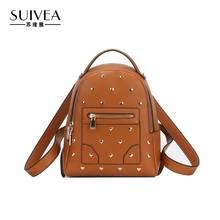 Suivea бренд Для женщин рюкзак Япония Корея Подростковая школьные Путешествия Bagpack Обувь для девочек искусственная кожа женская сумка черный 2017 дамы