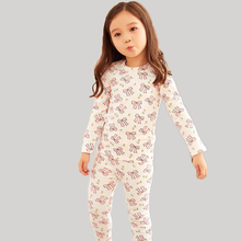 New fashion autumn bowknot girls pajamas sets brand pink baby girls Sleepwear sets long sleeve T-shirt+Pants 2pcs suits