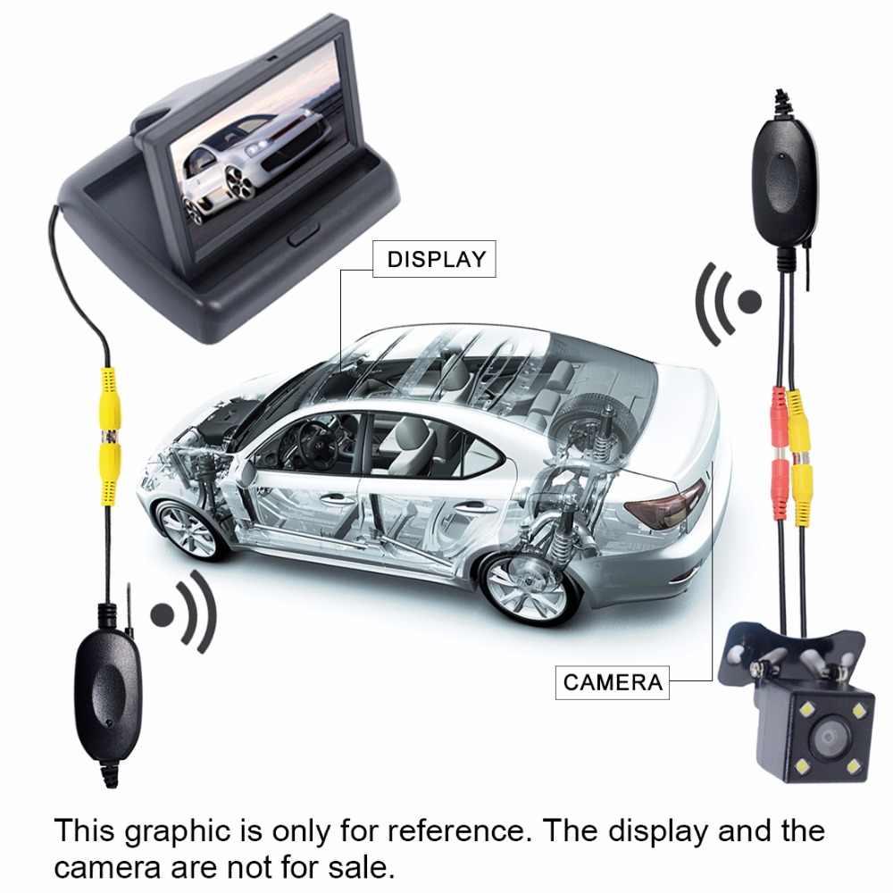2.4 グラムワイヤレスビデオトランスミッターレシーバーキット車のリアビューカメラと dvd モニター画面逆バックアップバックミラーカム