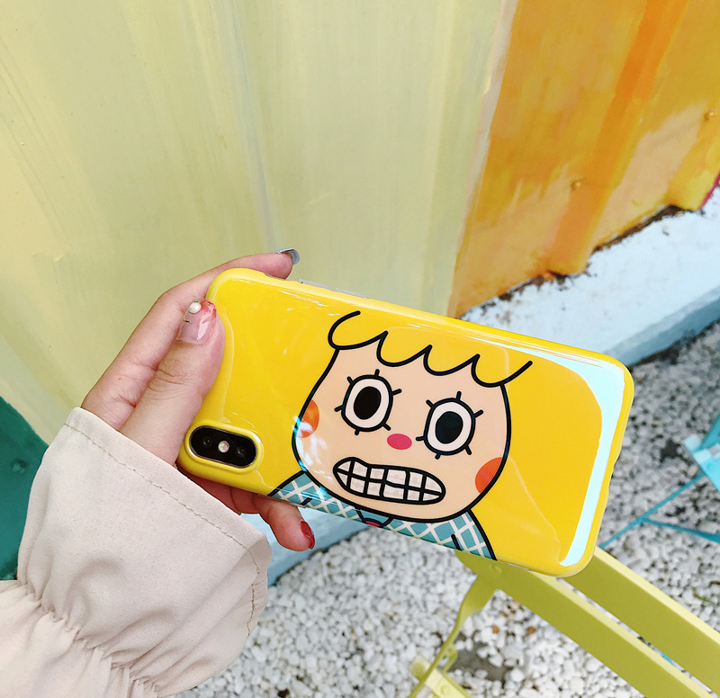 Cute Cartoon for Apple iphone X Mobile Shell Blu-ray Laser iphone7plus/6s/8 Soft Case Men and women Couple protection shell