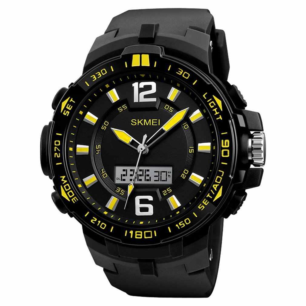 SKMEI עמיד למים ספורט שעון גברים צעד מטר קצב לב רב-פונקציה זוהרת שעון חכם שעון ספורט שעונים Relogio