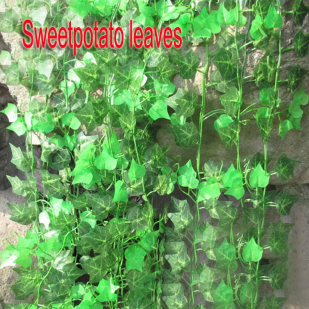 FJS! Zehui New Garden Home Decor Fake Plant Green Ivy Leaves Vine ...