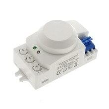 220 В 230 5,8 ГГц радиочастотный Движение детектор движения на основе пассивного ИК-датчика сенсор переключатель для свет горячие