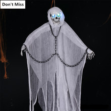 Big 200cm Scary Hanging Halloween Ghost Scream Club Party Supplies Halloween Horror Ghost Scary Haloween Creepy Ghost Reaper(China)