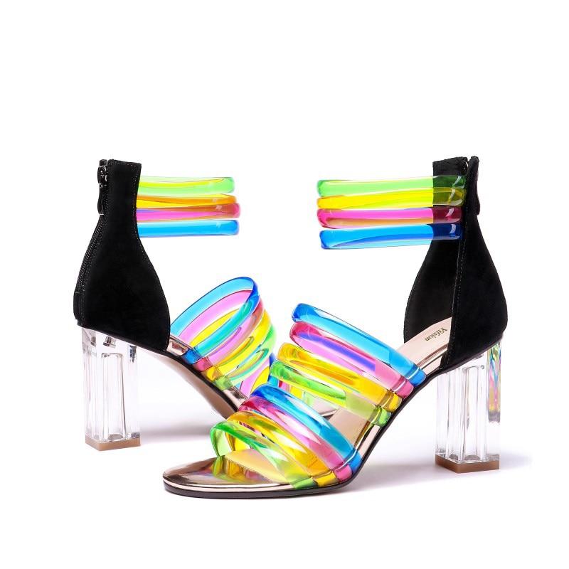 Lindo Abierto Tacón 5 Multicolor Yifsion 4 Nueva Agradable De 8 Del Verano Pie Moda Mujeres Fiesta D1042 Tamaño Zapatos Dedo Cuadrado Alto Sandalias Mujer vSBnS6Z