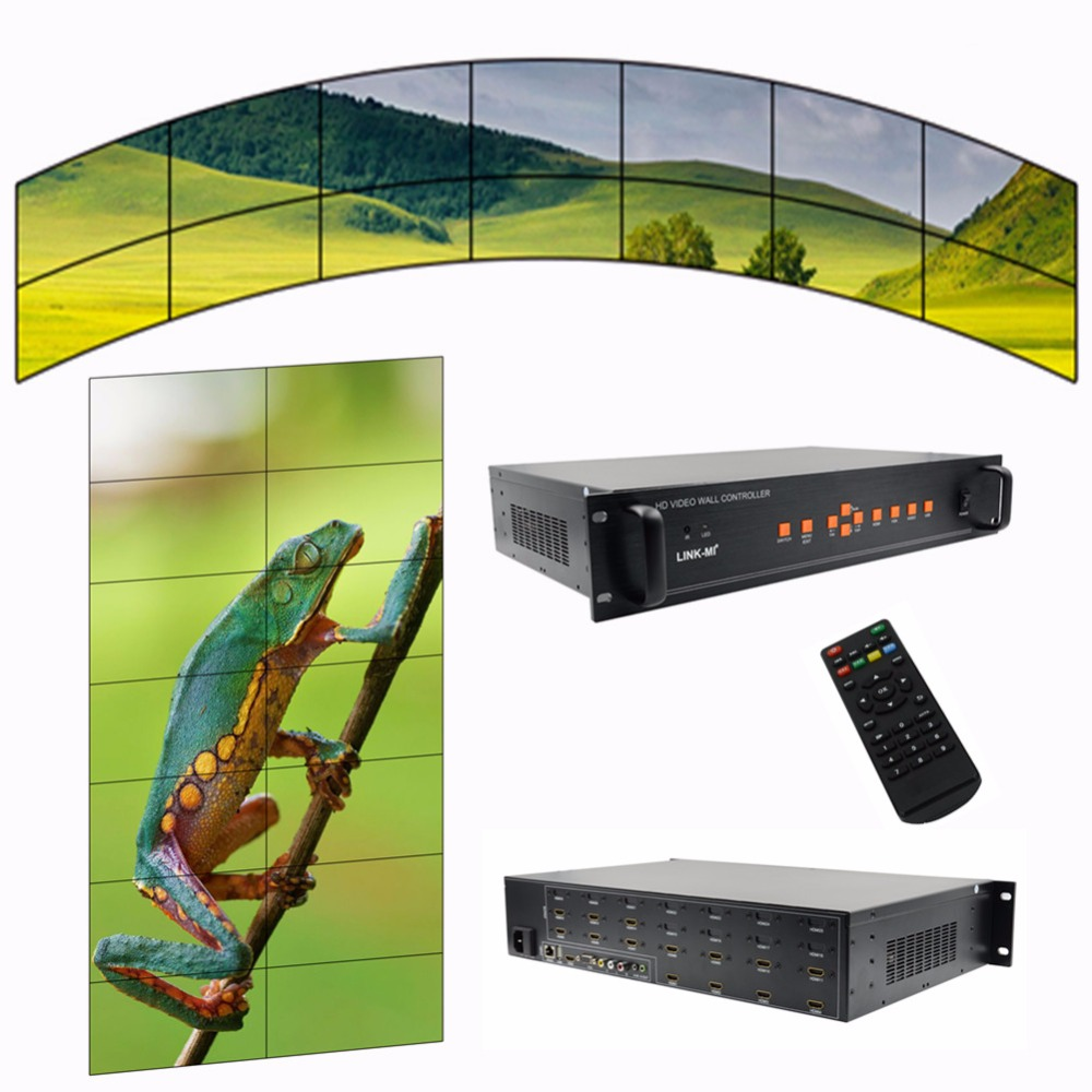 Video Wall Controller 2x2 3x3 3x4 2x5 2x3 stitching Processor 14 TV splitter image shows screen splicing HDMI VGA AV USB input wavelets processor