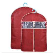 Hot Clothes Dust Cover Non-woven Garment Suit Coat Protector Transparent Wardrobe Storage Hanging Bag pocket