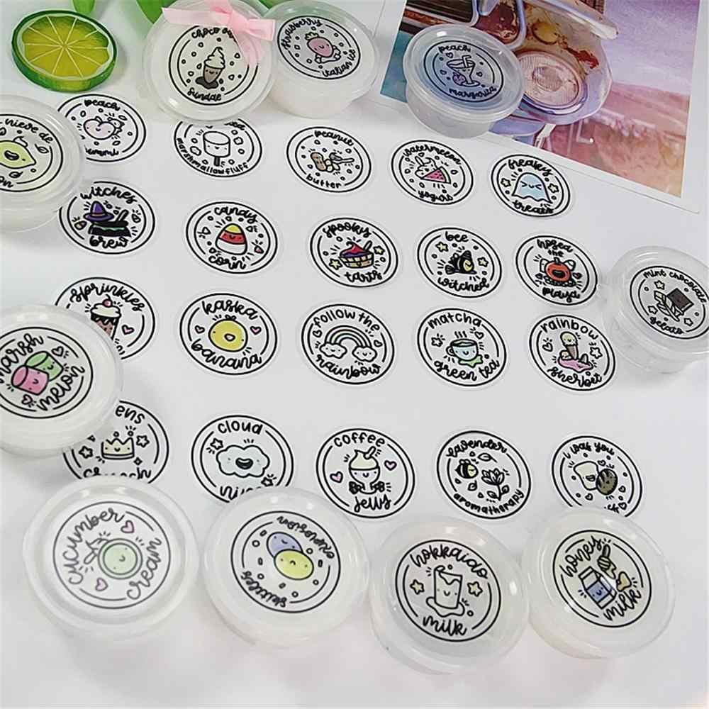 Waterproof Round Slime Sticker Containers Sticker Storage Box Sticker Slime Supplies DIY Accessories Bottle Decoration