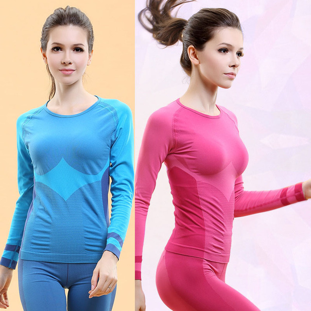 Professional Women Fitness Clothing Sport Suit For Female Yoga Elastic Gym Shirts Exercise Pilates Running Tops Slim Shapers